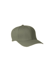 Olive Adult Wooly 6-Panel Cap