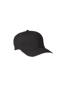 Black Adult Wooly 6-Panel Cap