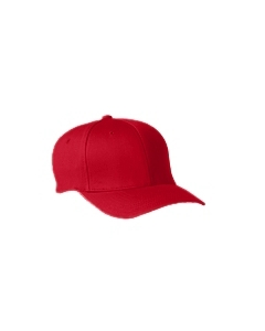 Red Adult Wooly 6-Panel Cap