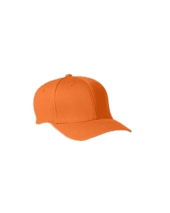 Orange Adult Wooly 6-Panel Cap
