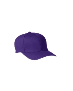 Purple Adult Wooly 6-Panel Cap