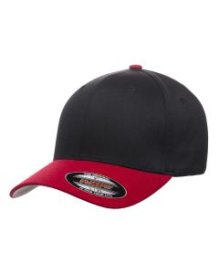 Black/red Wooly 6-Panel Cap