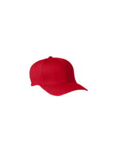 Red Youth Wooly 6-Panel Cap