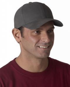 Dark Grey Brushed Cotton Twill Mid-Profile Cap