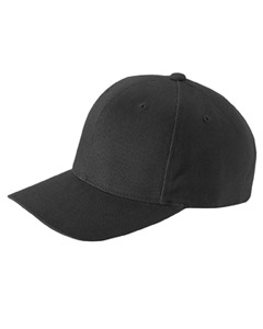 Black Brushed Cotton Twill Mid-Profile Cap