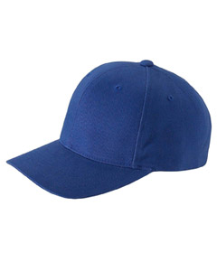 Navy Brushed Cotton Twill Mid-Profile Cap