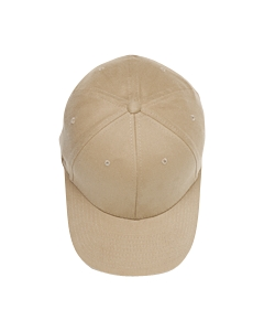 Khaki Brushed 6-Panel Cap