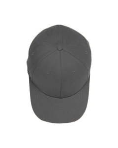 Grey Adult Brushed Twill Cap