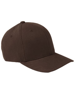 Brown Adult Brushed Twill Cap
