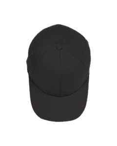 Black Adult Brushed Twill Cap