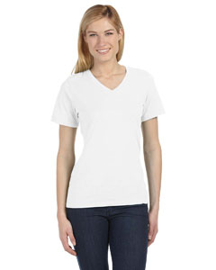 White Missy Jersey Short-Sleeve V-Neck T-Shirt