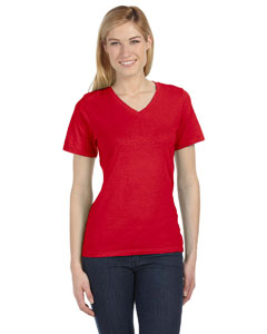 Red Missy Jersey Short-Sleeve V-Neck T-Shirt