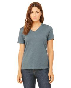 Heather Slate Missy Jersey Short-Sleeve V-Neck T-Shirt