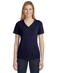 Navy Missy Jersey Short-Sleeve V-Neck T-Shirt