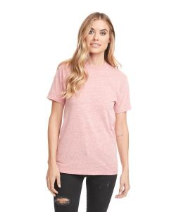 Snow Heather Red Unisex Sueded Snow Crewneck T-Shirt