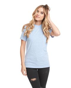Snow Heathr Blue Unisex Sueded Snow Crewneck T-Shirt