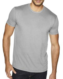 Light Gray Men's Premium Fitted Sueded Crew