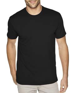 Black Men's Premium Fitted Sueded Crew