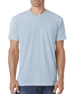 Light Blue Men's Premium Fitted Sueded Crew
