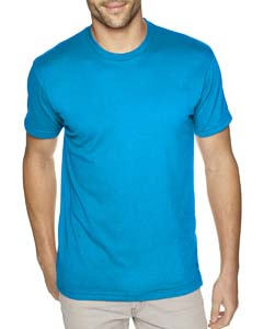 Turquoise Men's Premium Fitted Sueded Crew