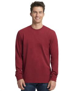 Cardinal Unisex Sueded Long-Sleeve Crew