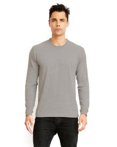 Dark Hthr Gray Unisex Sueded Long-Sleeve Crew