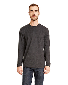 Heather Metal Unisex Sueded Long-Sleeve Crew