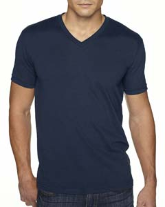 Midnight Navy Men's Premium Fitted Sueded V-Neck Tee