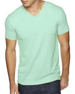 Mint Men's Premium Fitted Sueded V-Neck Tee