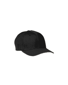 Black Adult Wool Blend Cap