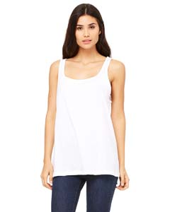 White Ladies' Relaxed Jersey Tank
