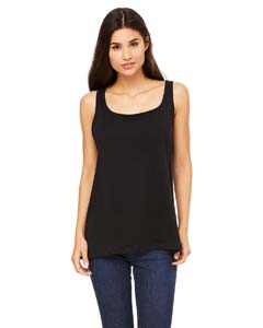 Black Ladies' Relaxed Jersey Tank