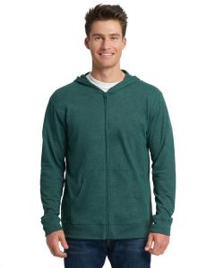 Hthr Forest Grn Unisex Sueded Full-Zip Hoody