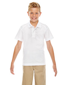 White 701 Eperformance™ Youth Shield Snag Protection Short-Sleeve Polo