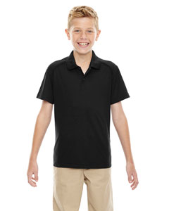 Black 703 Eperformance™ Youth Shield Snag Protection Short-Sleeve Polo