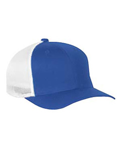 Royal/white 6-Panel Trucker Cap