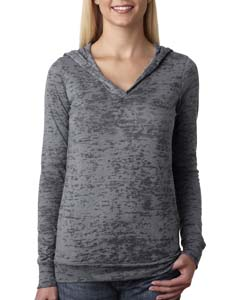 Dark Gray Ladies' Burnout Hoodie