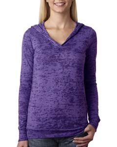 Purple Rush Ladies' Burnout Hoodie