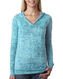 Tahiti Blue Ladies' Burnout Hoodie