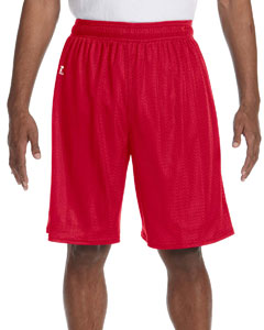 True Red Nylon Tricot Mesh Short
