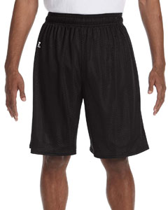 Black Nylon Tricot Mesh Short