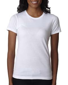 White Ladies' CVC Crew Tee