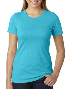 Bondi Blue Ladies' CVC Crew Tee