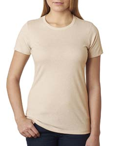 Cream Ladies' CVC Crew Tee