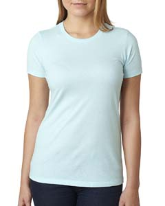Ice Blue Ladies' CVC Crew Tee