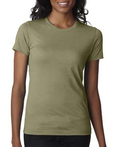 Light Olive Ladies' CVC Crew Tee