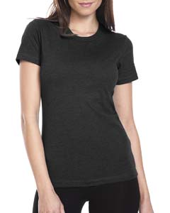 Black Ladies' CVC Crew Tee