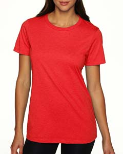 Red Ladies' CVC Crew Tee