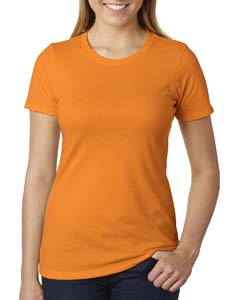 Orange Ladies' CVC Crew Tee