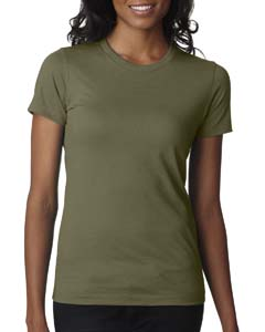 Military Green Ladies' CVC Crew Tee